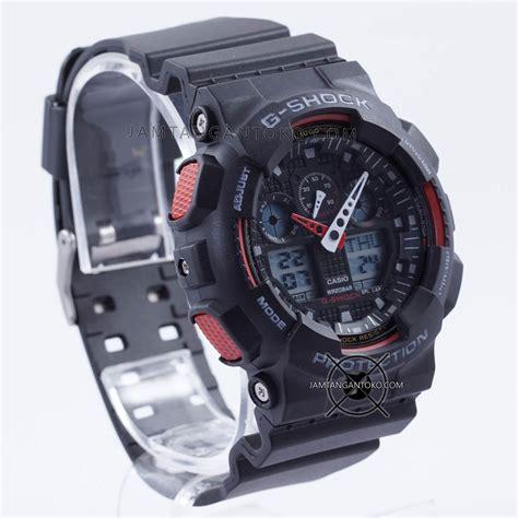 Jam Tangan G Shockgshock Ga100 Hitam List Merah harga sarap jam tangan g shock ga100 1a4 black