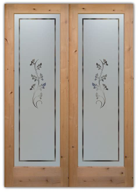 Pantry Doors With Glass Etched Glass Pantry Doors Sans Soucie Glass