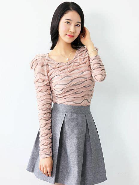 Gifts Princess Sleeve Blouse korean style stripes pleated princess sleeve blouse