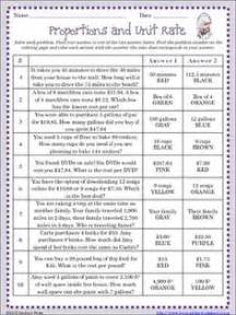 collections of unit rate worksheets for 6th grade