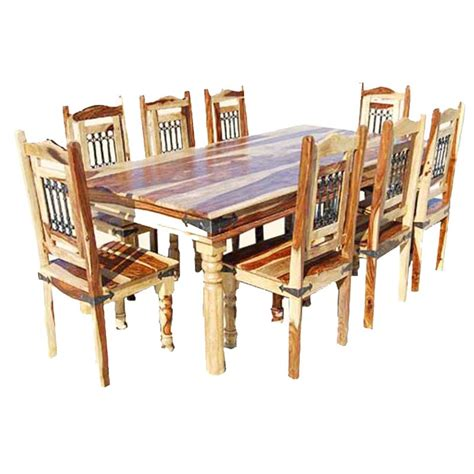 Wood Dining Room Table Sets Dallas Classic Solid Wood Rustic Dining Room Table And Chair Set