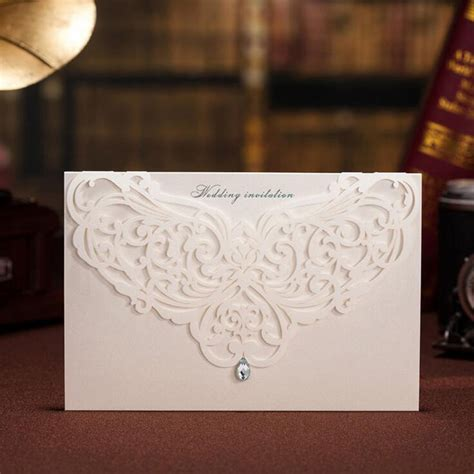 laser printable blank greeting cards 50pcs white laser cut wedding invitation card greeting