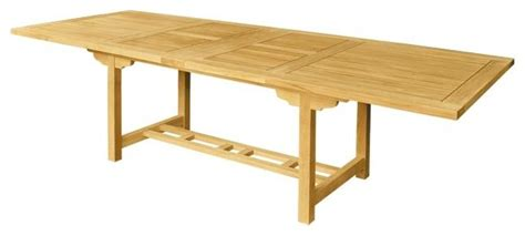 rectangular extension table with thick