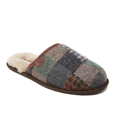 ugg scuff mens slippers ugg s scuff patchwork sheepskin slippers patchwork