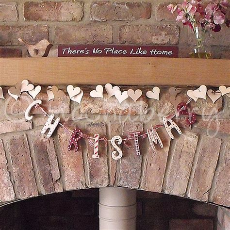 wooden christmas garland wooden shaker style christmas