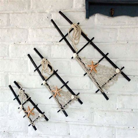 Decorative Wall Ladder by Sets Of Three Mediterranean Decor Decorative Wall Hangings
