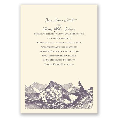 Wedding Invitations Mountains watercolor mountain invitation invitations by