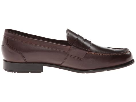 brown coach loafers rockport classic loafer lite coach brown zappos