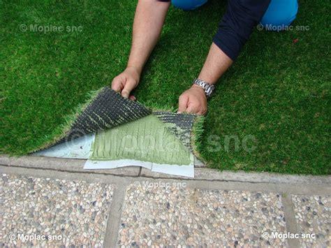 prato artificiale terrazzo incollare erba sintetica su cemento semplice e comfort