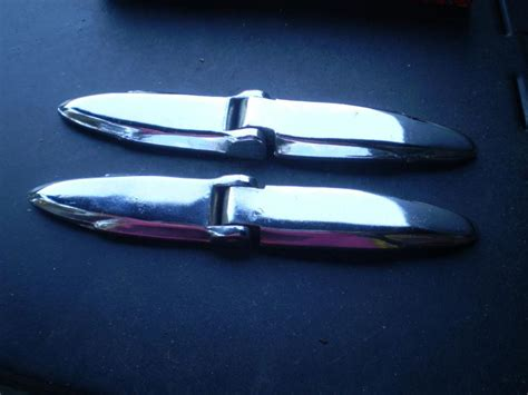 buy  chrysler dodge plymouth chrome trunk hinges  box pair coach models   motorcycle
