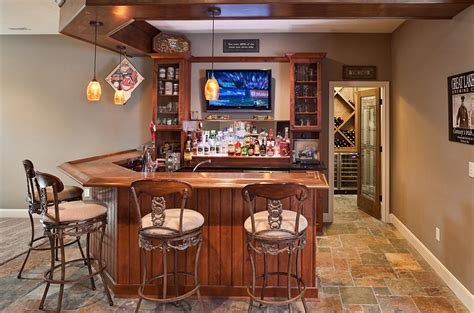 Home Basement Bar 27 Basement Bars That Bring Home The Times
