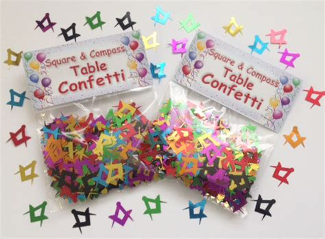 Table Confetti by Masonic Square And Compass Table Confetti