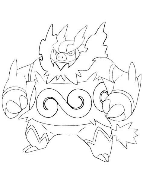 pokemon coloring pages pignite emboar free colouring pages