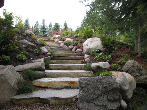 Rock Garden Steps Rock Steps Turfcare Landscaping In Sandpoint Idaho