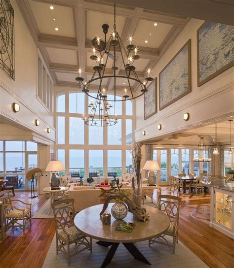 lighting for high ceilings best chandeliers for high ceilings living room beach style