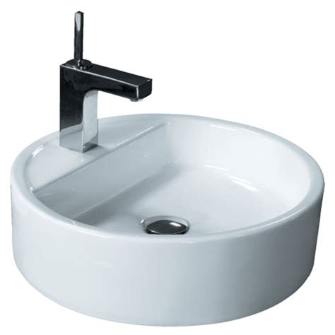 bathroom ceramic sink round porcelain ceramic single hole countertop bathroom