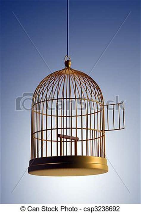 gabbia uccello clipart di gabbia uccello 3d render illustrazione di