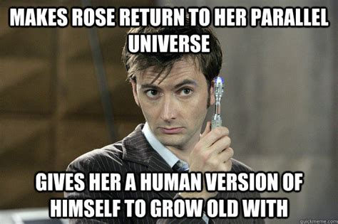David Meme - makes rose return to her parallel universe gives her a