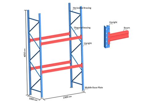 selective pallet racks hengxin storage equipment