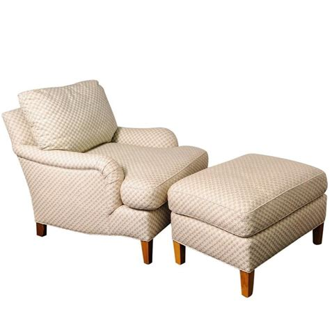 cream chair and ottoman club chair and ottoman with diamond star pattern cream