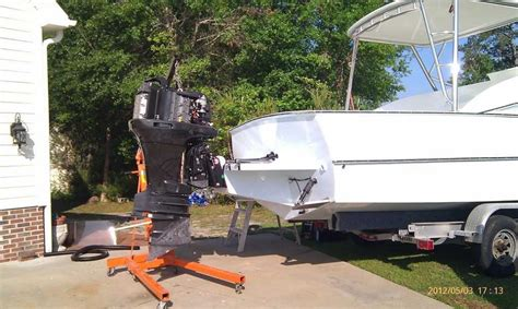 boat outboard motor lift automotive engine hoist for mounting an outboard motor
