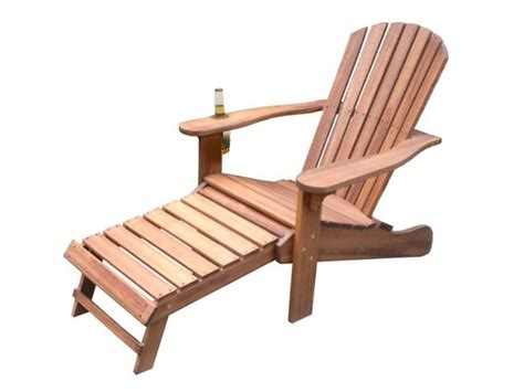 chair with built in ottoman outdoor interiors adirondack chair w built in ottoman