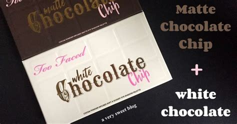 Faced Matte Chocolate Chip Original faced matte chocolate chip and white chocolate chip eye shadow palettes review and swatches