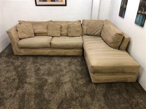 Microfiber Chaise Lounge by Light Brown Microfiber Sectional Sofa Set With Chaise
