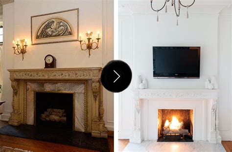 before and after fireplace makeovers before after gorgeous fireplace makeovers design sponge