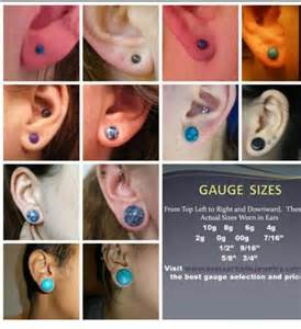 sizes stretched ears tattoos stretched ears