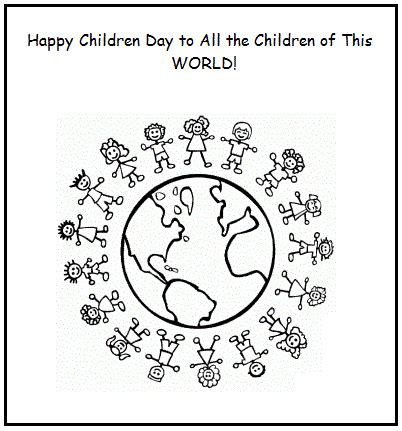 Universal Children Day Wishes Coloring Pages Of Earth And Coloring Pages Of Children S Day