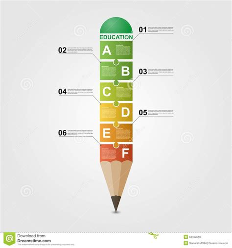 Vector Infographic Design With Drawing Pencil Cartoon Vector Cartoondealer Com 53126709 Drawing Infographic Template