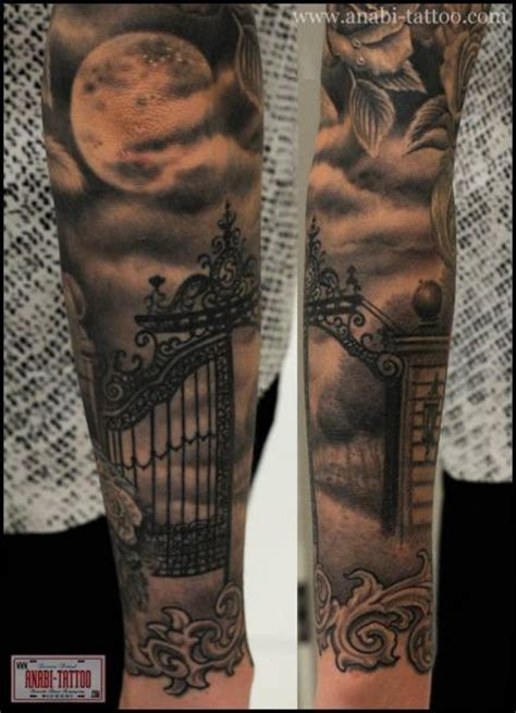 arm moon gate tattoo by anabi tattoo