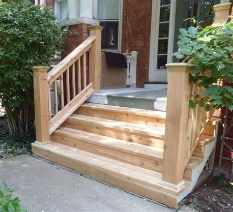 Back Porch Stairs Design Wood Front Porch Stairs