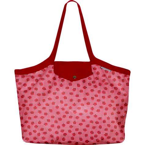 Pleated Media Tote by Pleated Tote Bag Medium Size Ladybird Gingham Cheap Ppmc