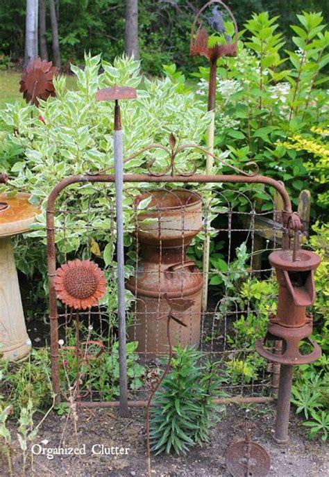 garden made from junk 25 best ideas about primitive garden decor on