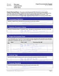 Procurement Management Template project procurement plan template hashdoc