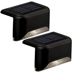 solar deck lights lowes shop portfolio 2 light black led railing deck light kit at