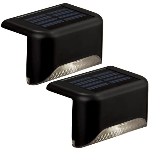 Lowes Led Landscape Lights Shop Portfolio 2 Light Black Led Railing Deck Light Kit At Lowes