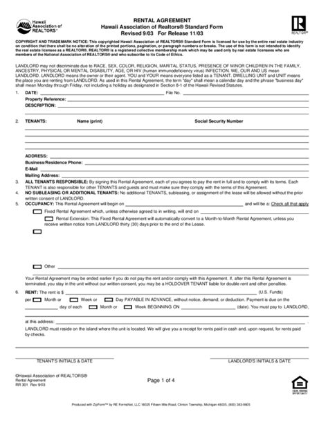 Month To Month Lease New York Free Rental Agreement Template Hawaii