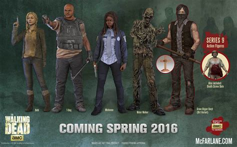 Tv Series The Walking Dead mcfarlane reveals walking dead tv series 9 line up the
