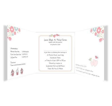 Wedding Invitations Tri Fold by Sweetness Light Tri Fold Wedding Invitations Sle