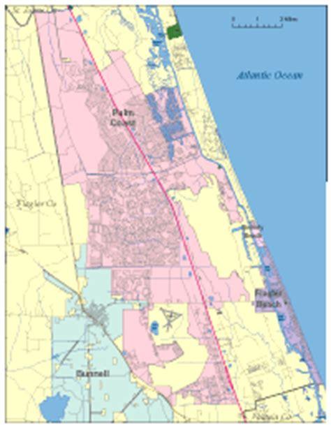 editable palm coast fl city map illustrator