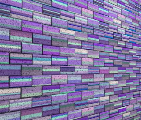Wall 3d Brick Br1317 Blue 3d mosaic tile brick wall in purple blue stripe stock