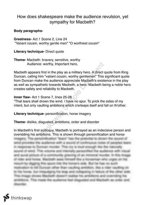 Macbeth Essay Plan by Vs Evil In Shakespeares Macbeth Essay Exle Macbeth Essay Plan Macbeth Essay Exles