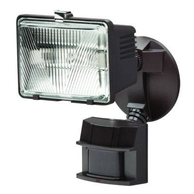 defiant 180 degree outdoor bronze motion security light df