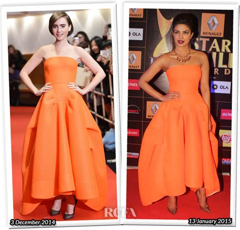 Who Wore Better Carpet Style Awards 2 by Who Wore Maticevski Better Collins Or Priyanka