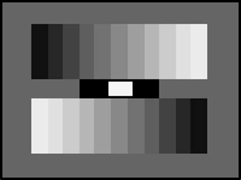 test pattern black pluge grayscale chart