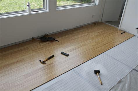 bamboo floor installing bamboo floor concrete slab
