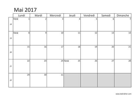 Calendrier Mai 2017 Imprimer Calendrier 2017 Gratuitement Pdf Xls Et Jpg